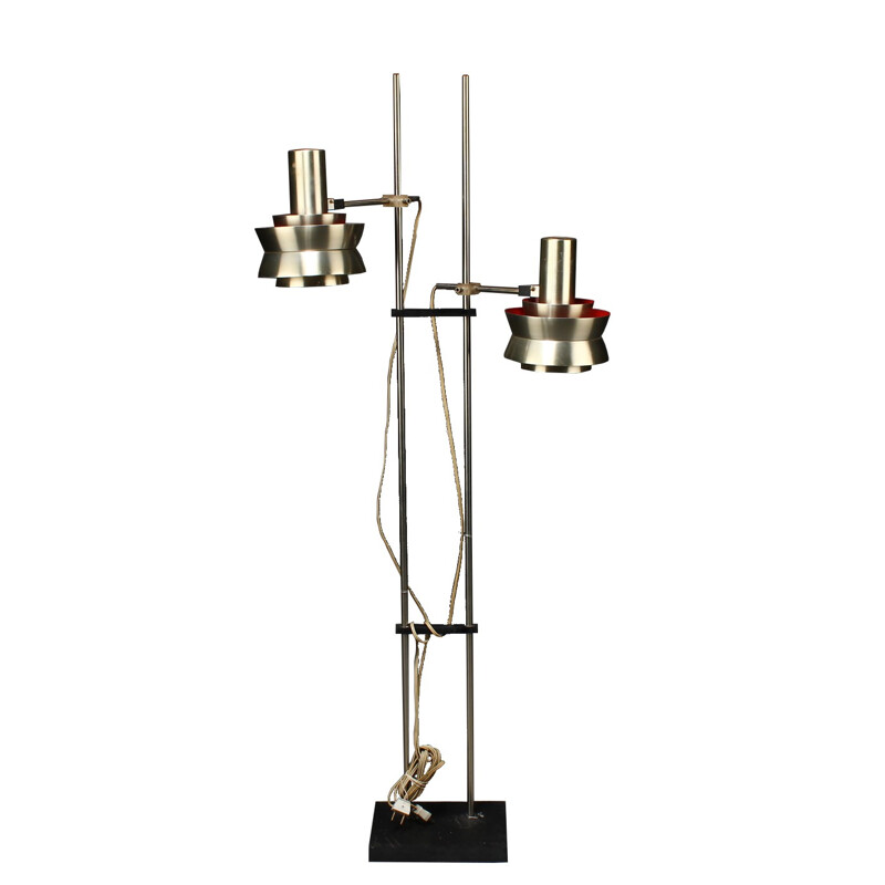 Double floor lamp in metal, Carl THORE - 1970s