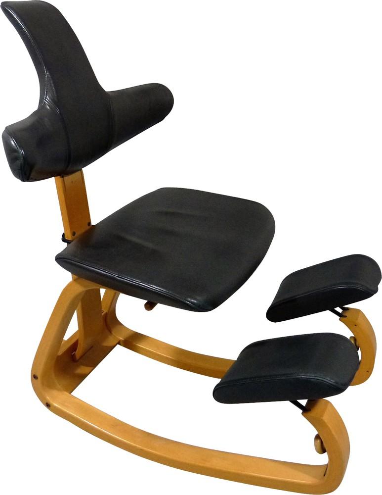 Thatsit Beech And Leather Balance Chair Peter Opsvik