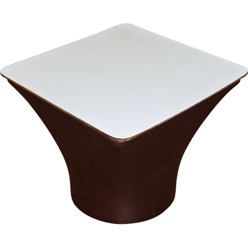 Vintage Mushroom side table with white top