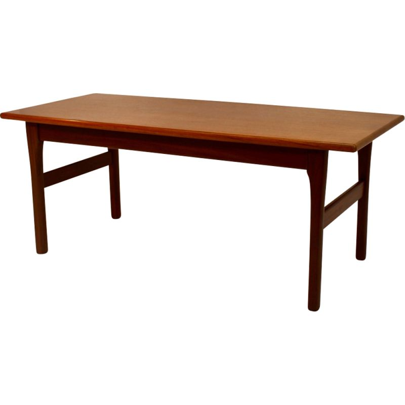 Vintage coffee table in teak rectangular Scandinavian 1960