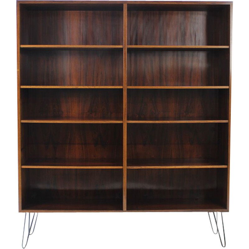 Vintage bookcase in rosewood by Omann Jun 1960s
