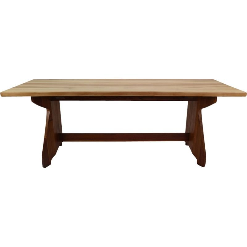Vintage dining table in pine by Jacob Kielland Brandt for Christiansen Denmark 1960s