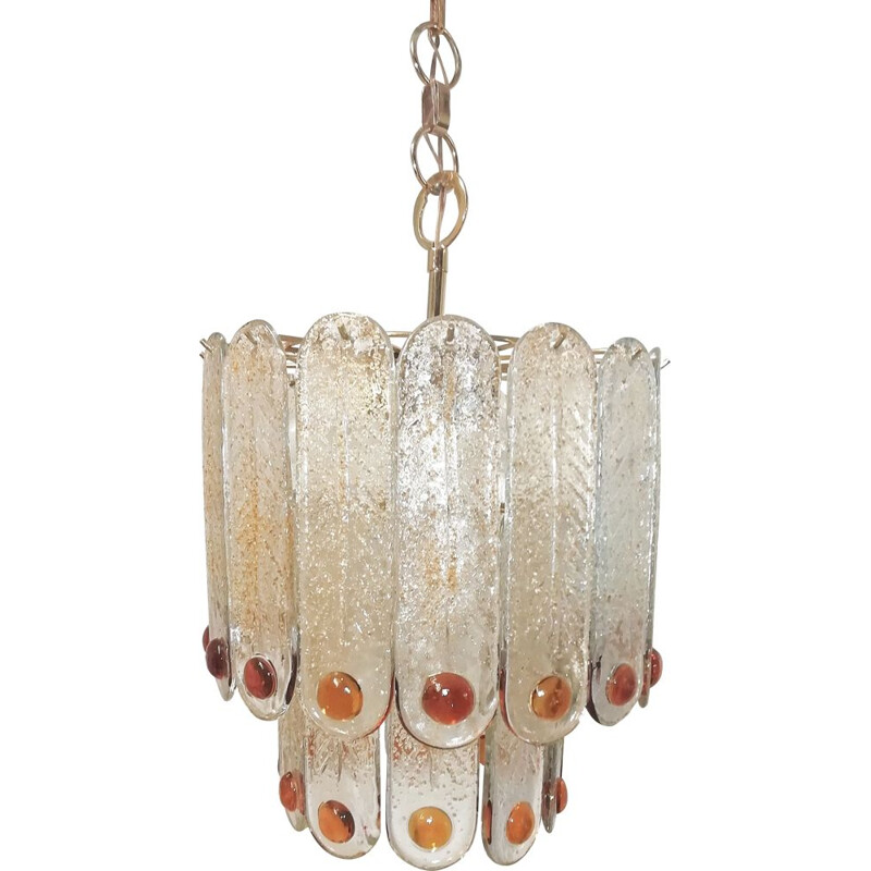 Vintage murano glass chandelier 1970s