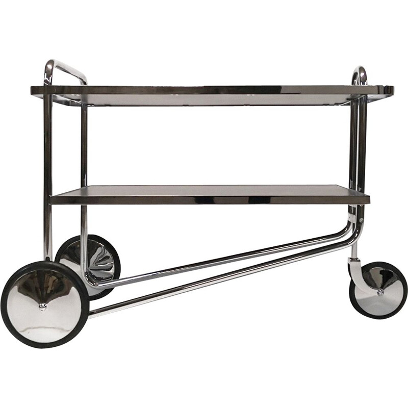 BR49 vintage steel trolley by Marcel Breuer for Alivar