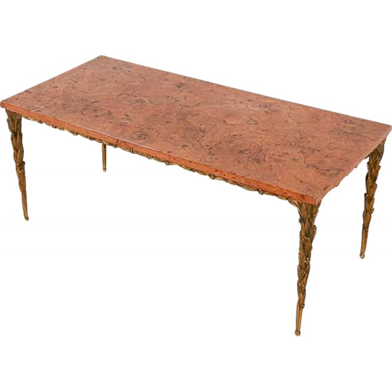 Vintage coffee table from Maison Bagues 1970