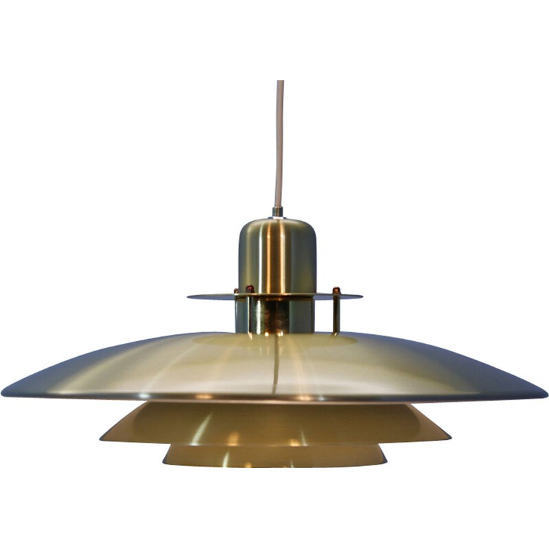 Vintage pendant lamp in brass 1980s
