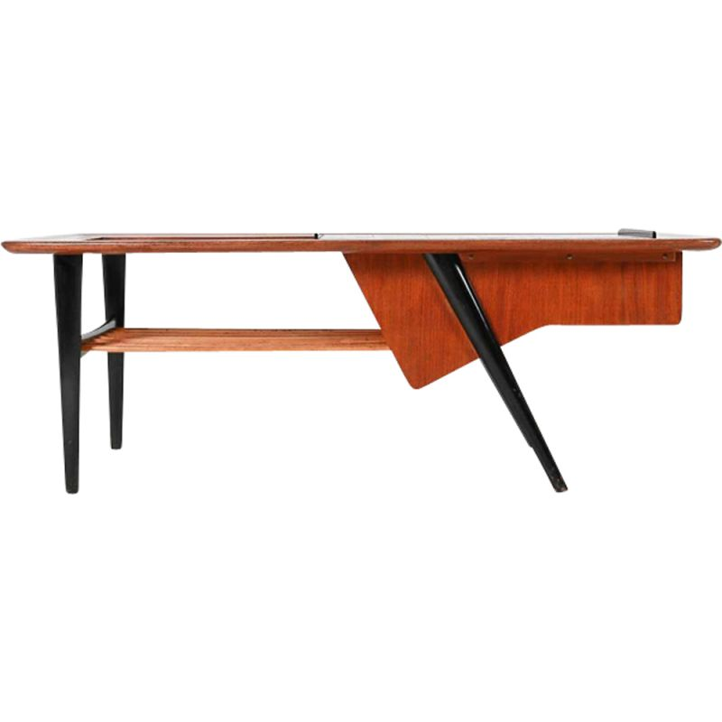 Vintage coffee table in rosewood by Alfred Hendrickx 1957