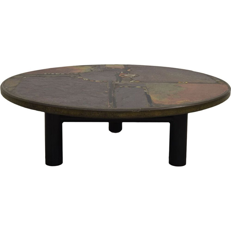 Vintage coffee table by Kingma in concrete and stone 1980