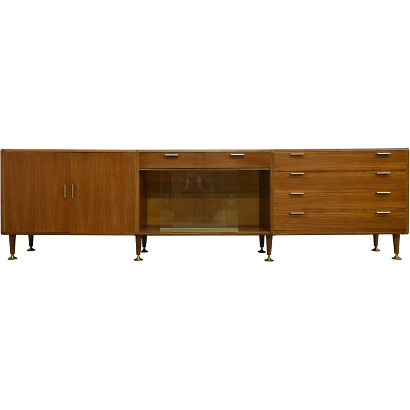Vintage sideboard in walnut by A.A.Patijn for Zijlstra Joure 1960s