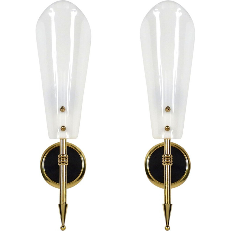 Set of 2 vintage French wall lights,1960