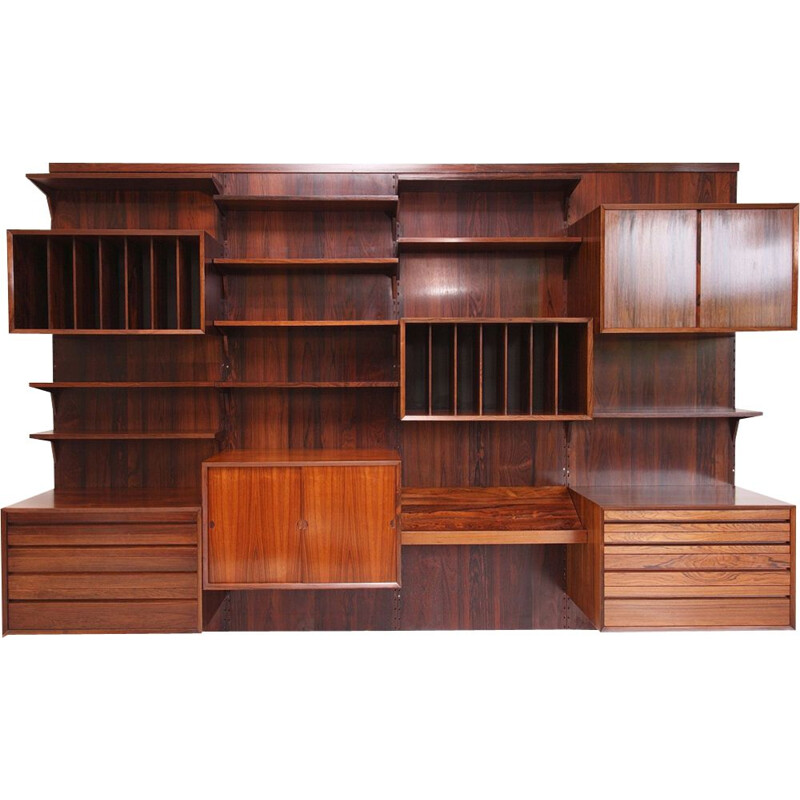Vintage modular bookcase in rosewood by Poul Cadovius,1960