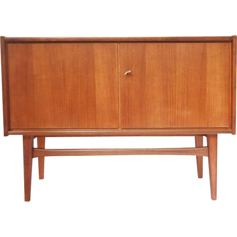 Small vintage Scandinavian sideboard with double door,1960