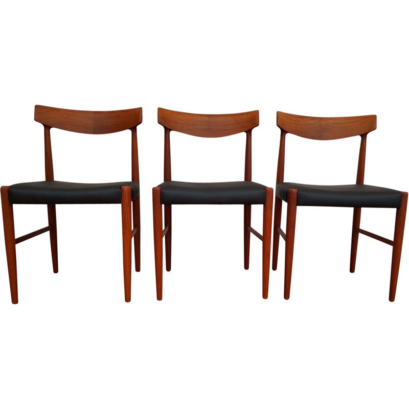 Set of 3 vintage Knud Færch chairs model 343