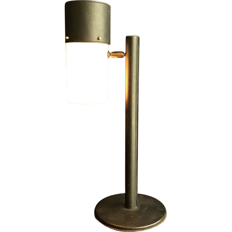 Vintage table lamp by Jaques Adnet