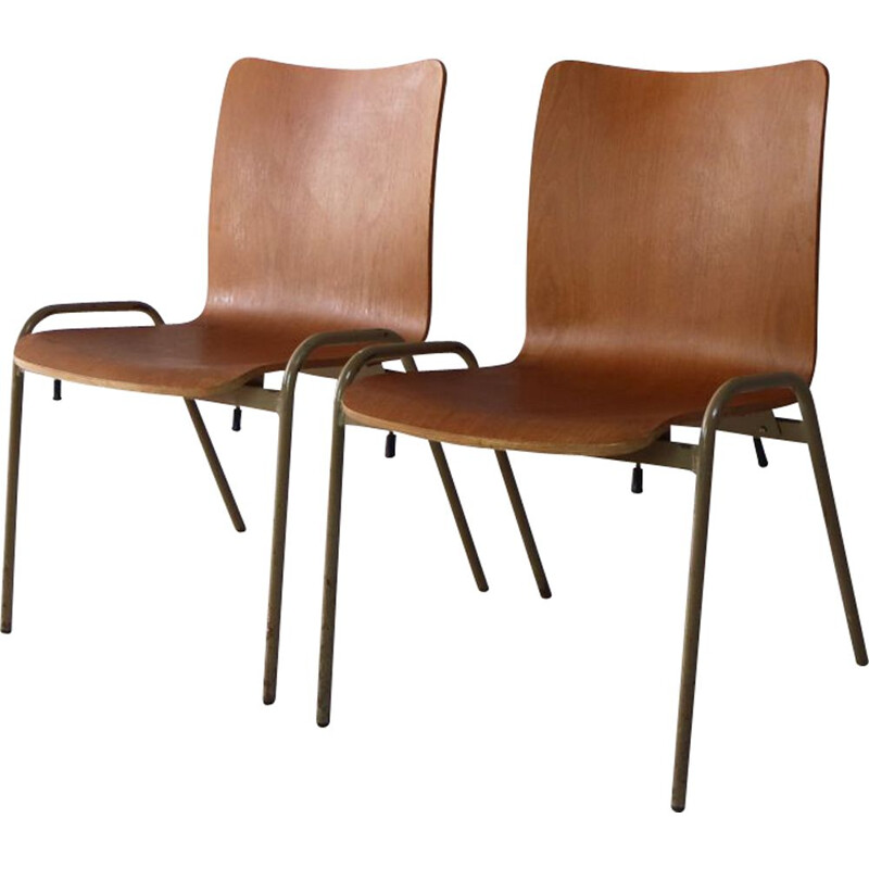 Vintage stacking chairs 1960s