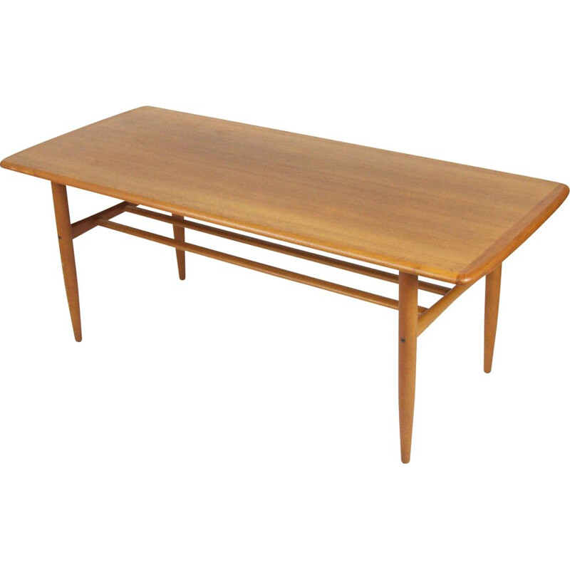 Vintage coffee table in teak by Alberts Tibro 1955s