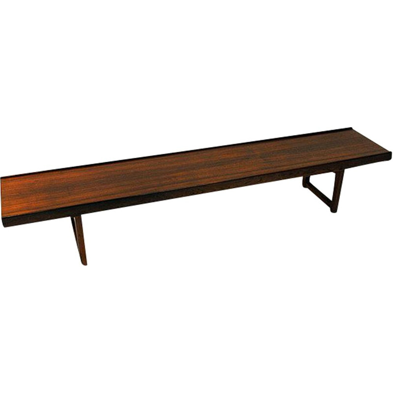 Vintage bench in rosewood by Torbjørn Afdal for Bruksbo Norway 1960s