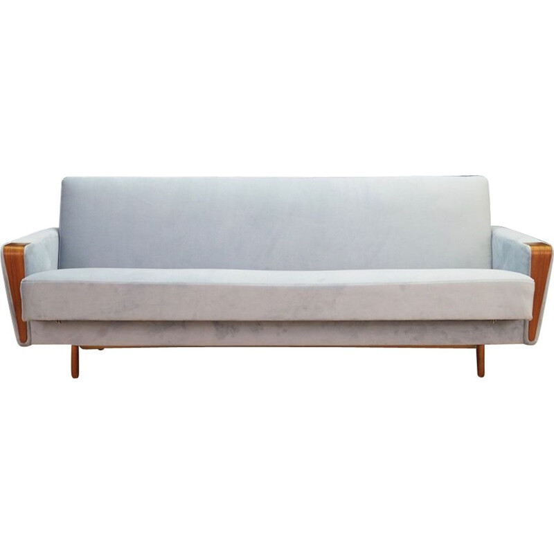 Danish sofa in light blue velvet