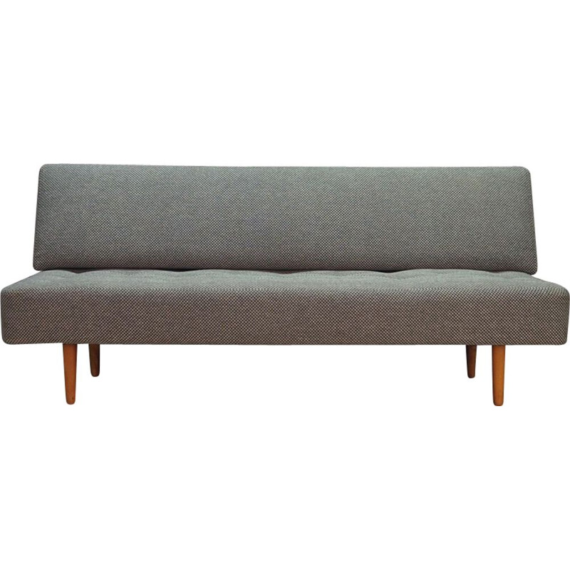 Vintage Danish sofa made of grey fabric