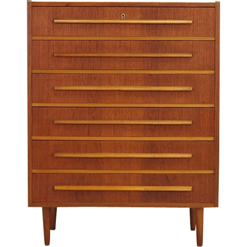 Danish chest of 6 drawers in teak