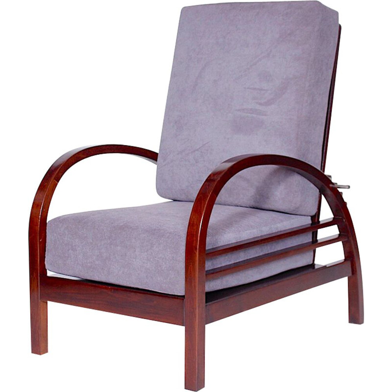 Vintage armchair in beech by Thonet Czechoslovakia 1922