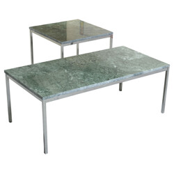 Pair of coffee tables, Florence KNOLL - 1950s