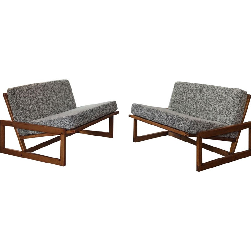 Pair of vintage low chairs Carlotta by Tobia & Afra Scarpa for Cassina Italy 1970s