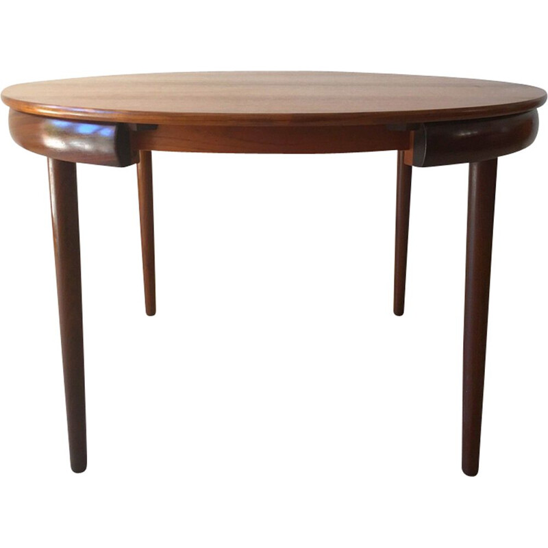Vintage dining table in teak by Hans Olsen for Frem Rojle Denmark 1950s