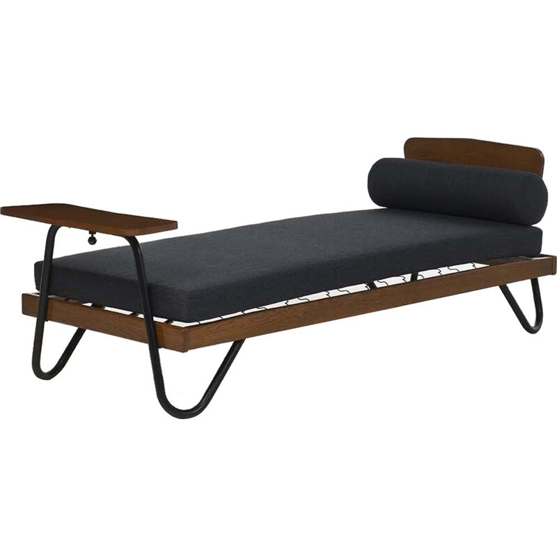 Vintage daybed by Jacques Hitler Mobilor edition France 1955