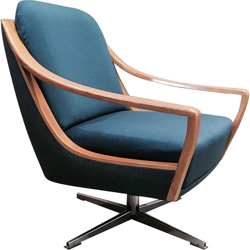 Vintage scandinavian swivel armchair,1950