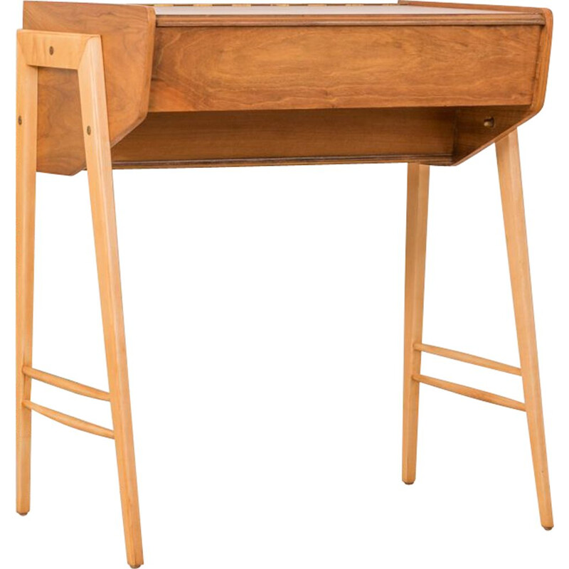 Vintage walnut dressing table from the 1950s