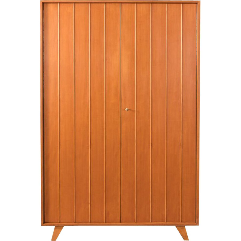 Vintage wardrobe in cherry veneer by Behr Mobel 1950s