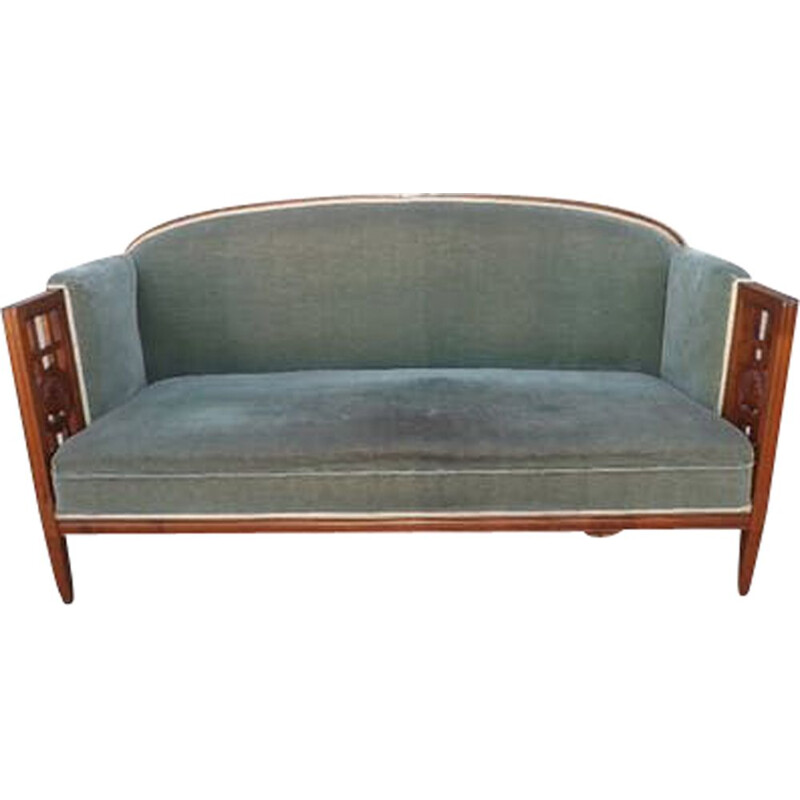 Vintage Andre GROULT sofa in cherry wood
