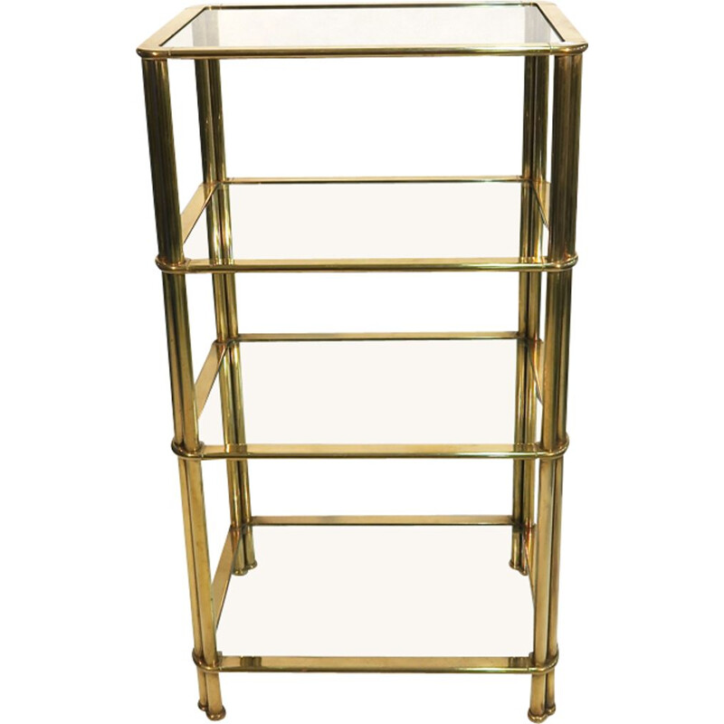 Vintage brass shelf 1970