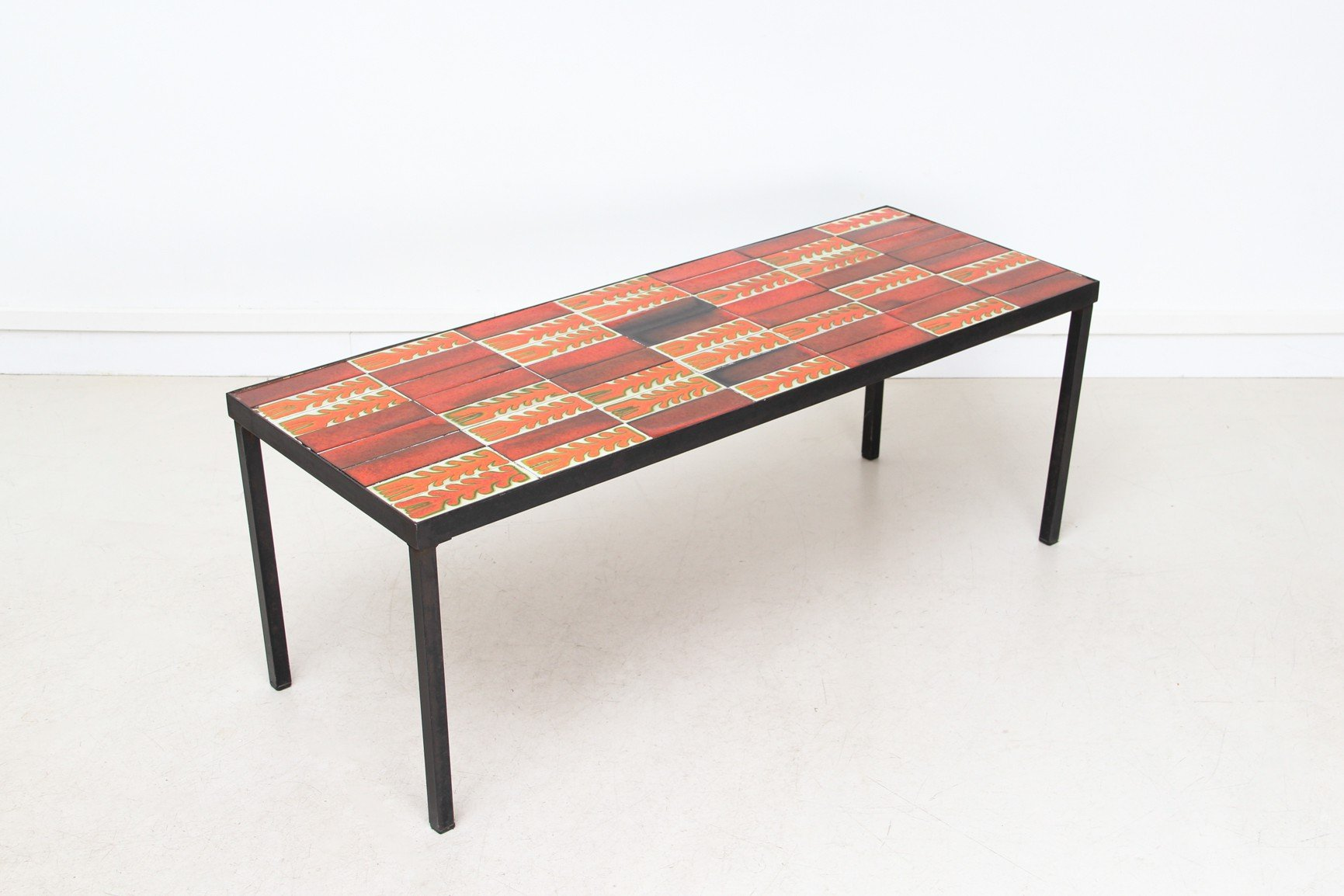 Vallauris ceramic coffee table roger capron 1950s - Table basse scandinave annee 50 ...
