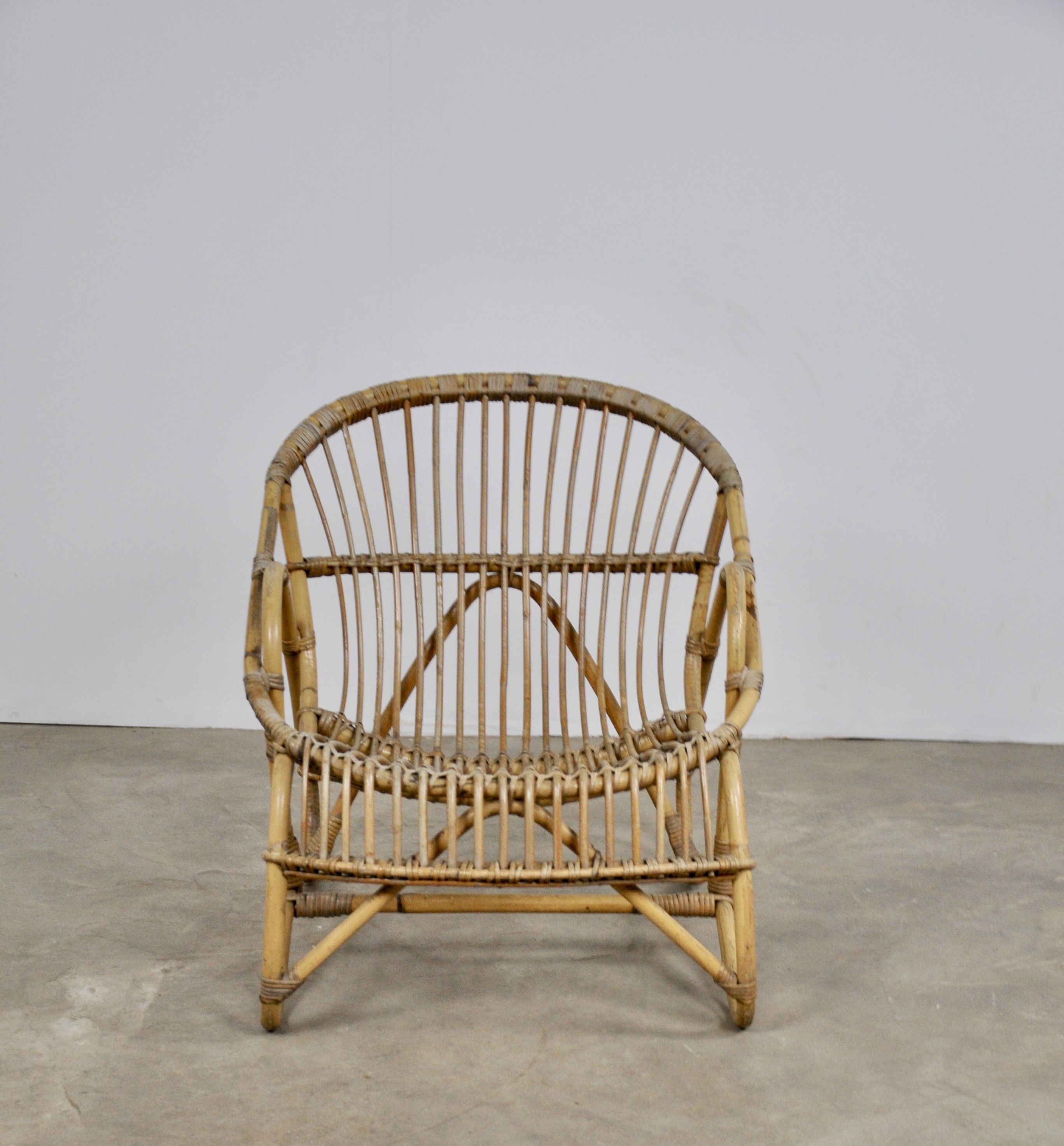 Vintage rattan armchair from the 60s - Design Market
