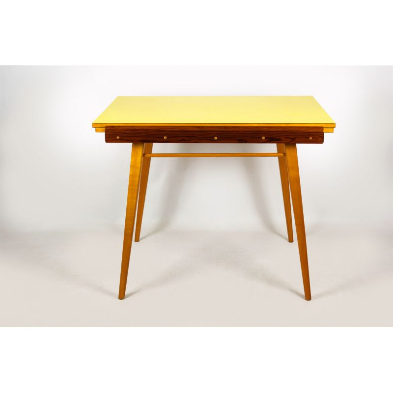 Vintage Dining Table Yellow Formica Folding 1960s Design Market
