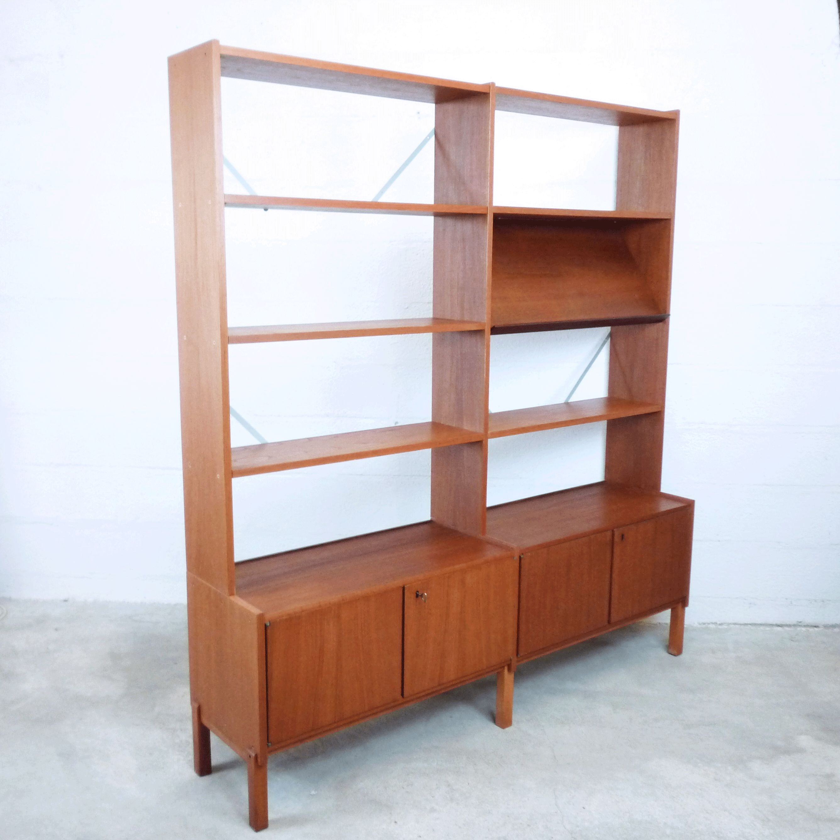 Vintage Scandinavian Teak Bookcase 1960