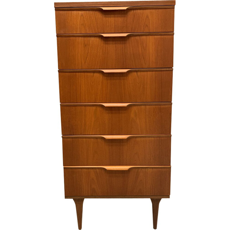 Vintage chest of drawers for Austinsuite London in teakwood 1960