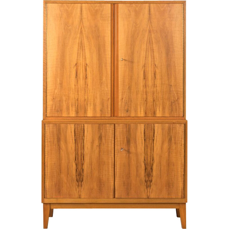 Vintage walnut cupboard by WK Möbel from the 1950s