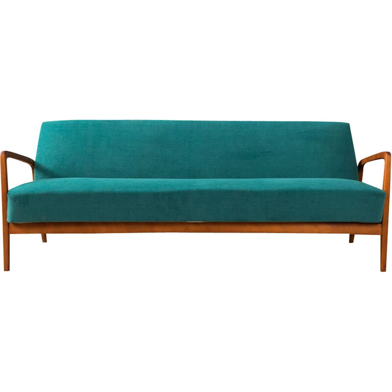 Vintage sofa in beech Germany 1950s