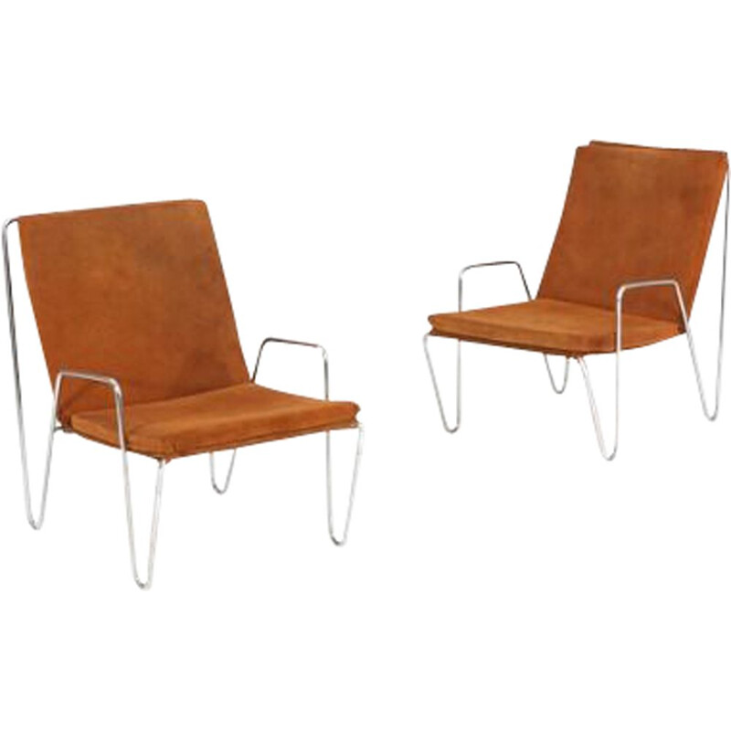 Vintage armchair Bachelor brown by Verner Panton 1950s