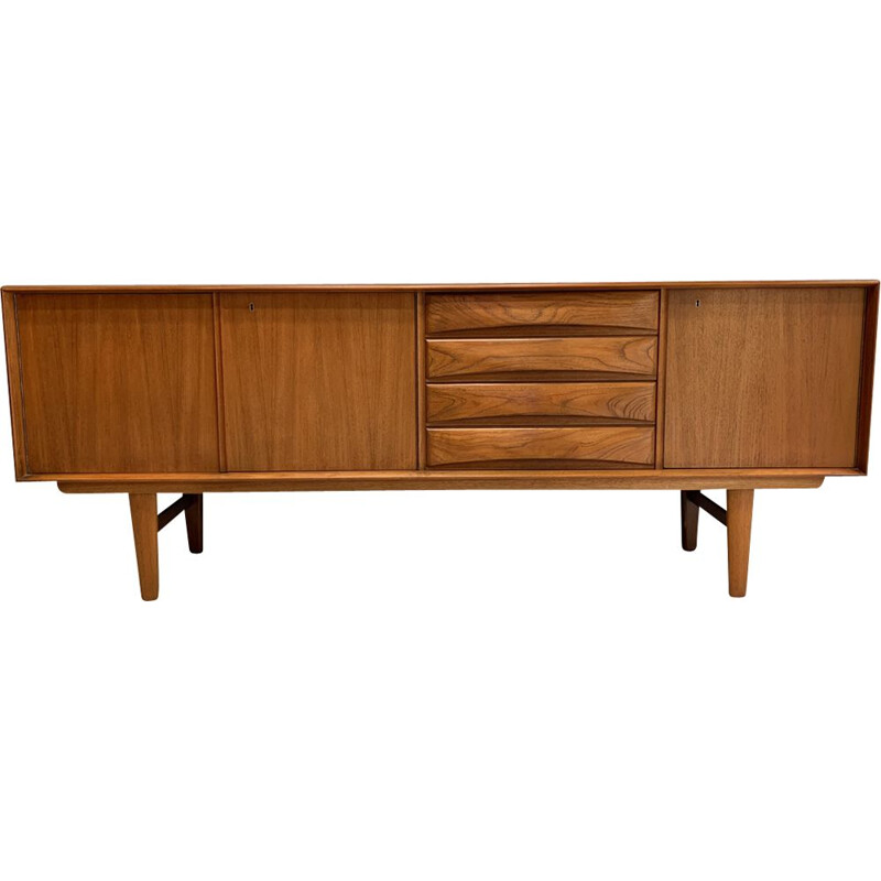 Vintage sideboard in teak by F.Kayser for Bahus Norway 1960s