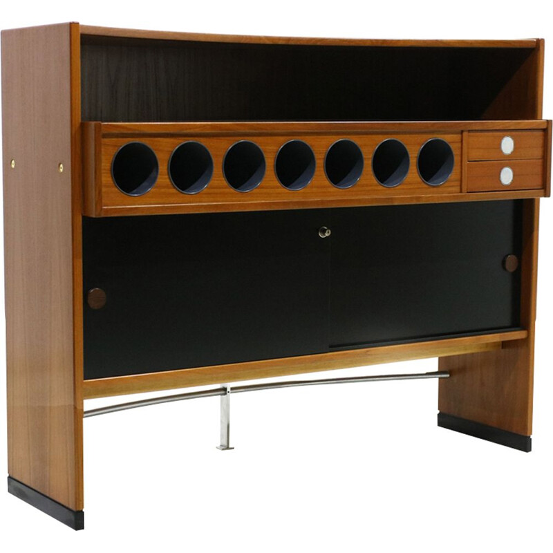 Vintage mobile bar in teak by Dyrlund-Smith Denmark 1970s