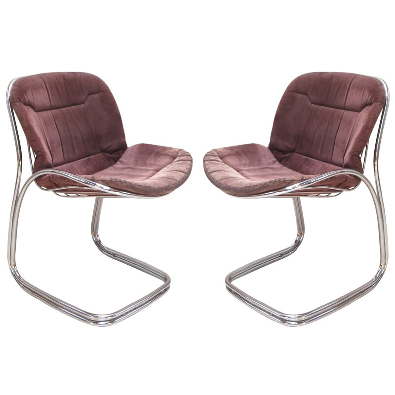 Pair of chairs, Gastone RINALDI - 1970s