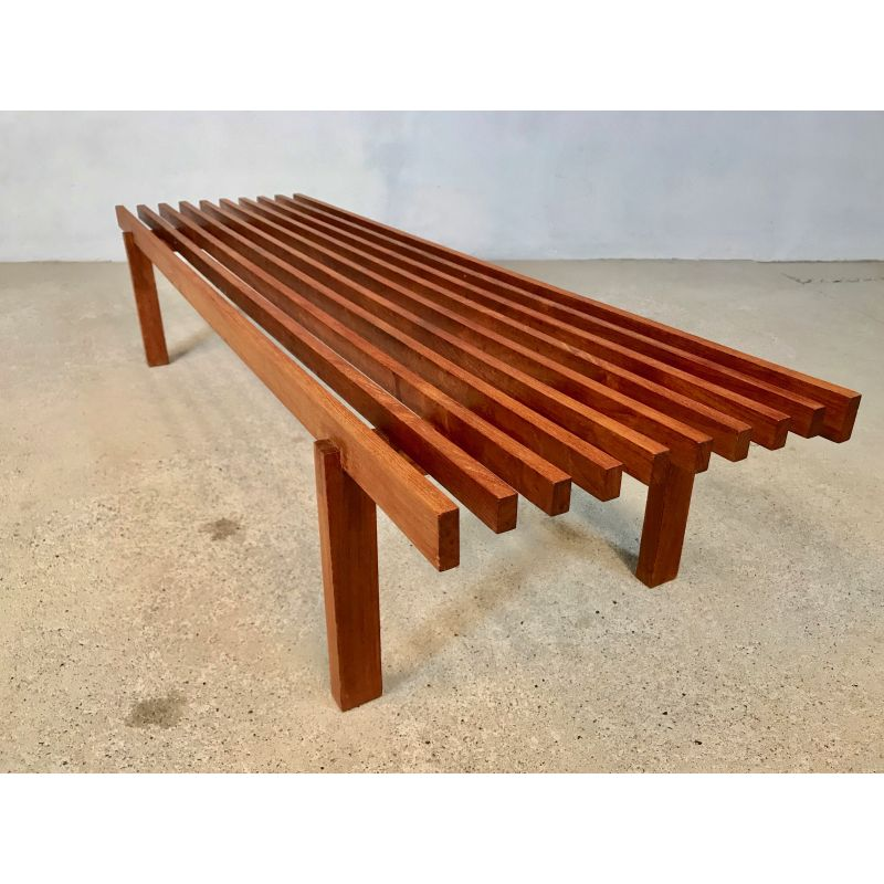 Fantastic Vintage Scandinavian Slatted Teak Bench Caraccident5 Cool Chair Designs And Ideas Caraccident5Info