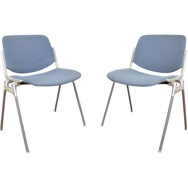 Vintage set of 2 DSC 106 Chairs by Giancarlo Piretti for Castelli 1960s