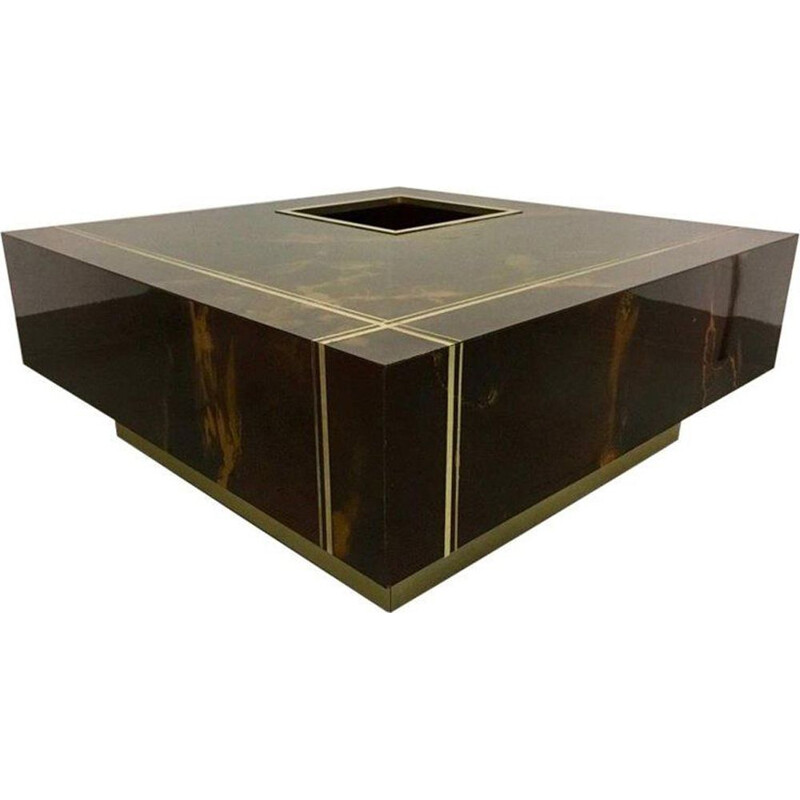 Vintage coffee table by Guy Lefevre for Roche Bobois France 1970s