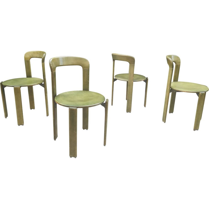 Set of 4 lounge chairs by Bruno Rey
