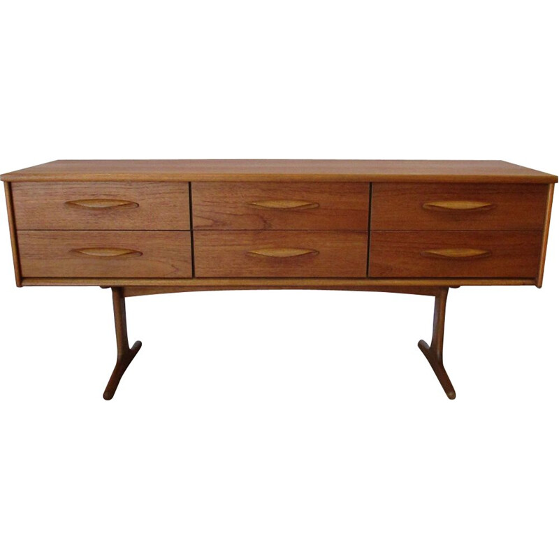 Vintage chest of drawers by Guille in teakwood 1960